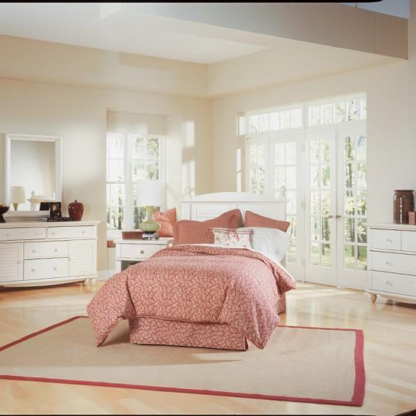 Sauder Harbor View 4 Piece Bedroom Set Hv Bd Set The Furniture Co