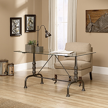 Youu0027re Viewing: Sauder Barrister Lane Writing Desk / Dinette Table (415832)  $399.00