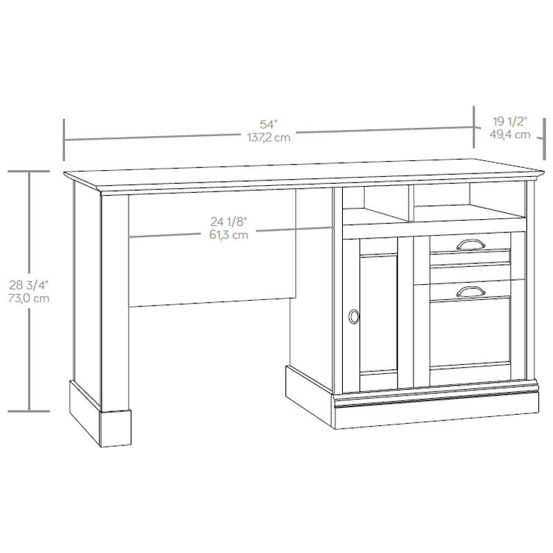 Sauder Barrister Lane Computer Desk With Hutch Ps1115