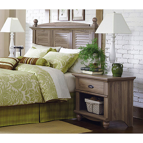 Sauder 415002 04 harbor view headboard night stand for Oak harbor furniture