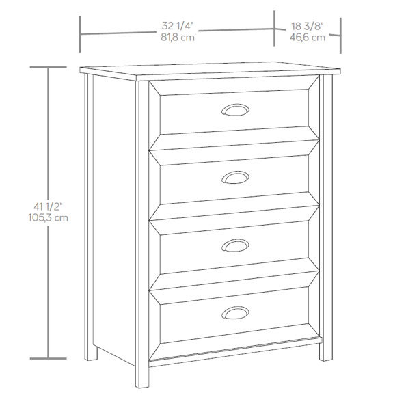 Sauder County Line 4 Drawer Chest 416976 The