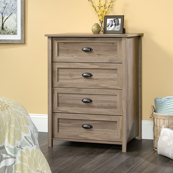 Sauder County Line 4 Drawer Chest 418073 The Furniture Co