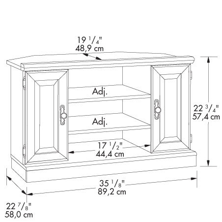 The Furniture Co 401486 Orchard Hills Corner Tv Stand From Sauder