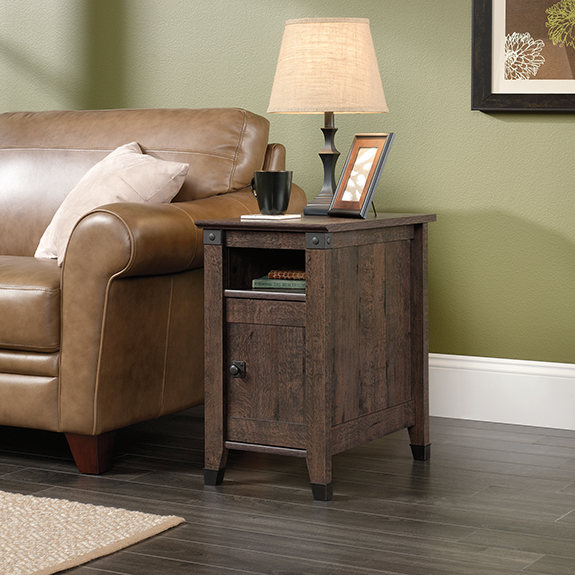 Sauder Carson Forge Side Table 420422 The Furniture Co