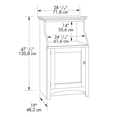 Sauder 401902 Summer Home Gourmet Stand The Furniture Co