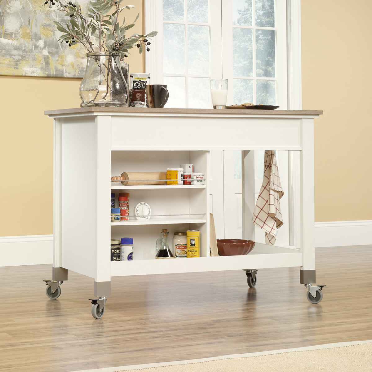 Sauder (416879) Mobile Kitchen Island