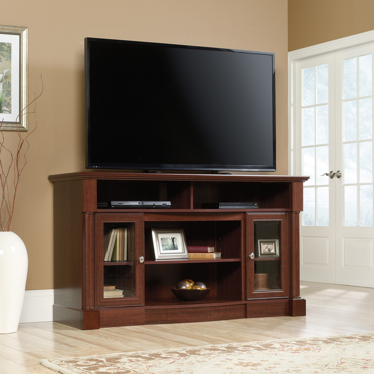 Sauder Palladia Fireplace Tv Stand 419117 The