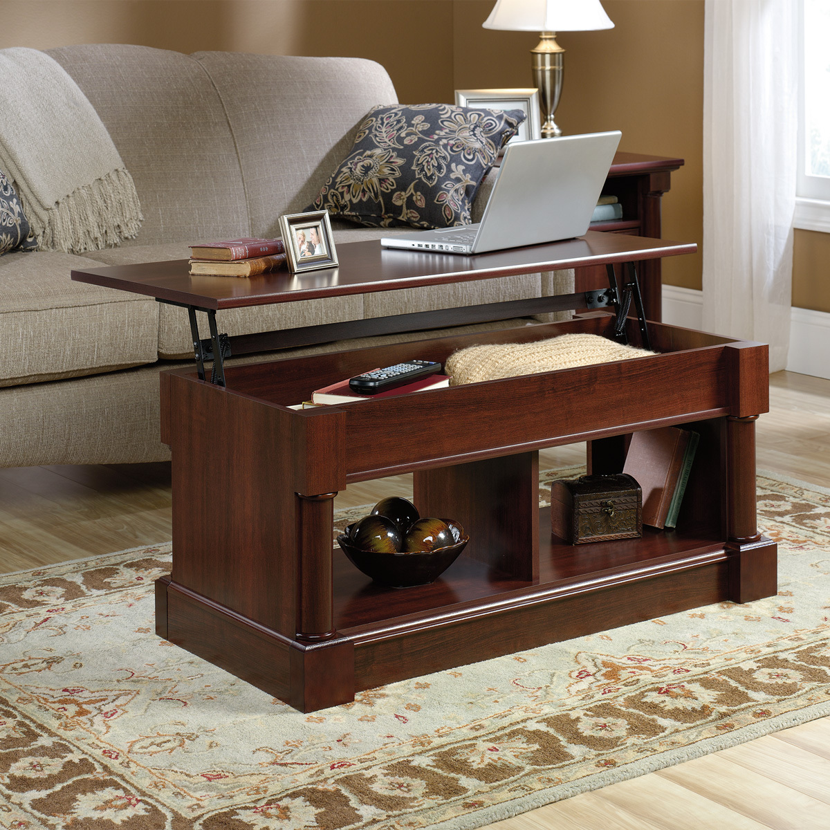 sauder palladia lifttop coffee table 420520  the