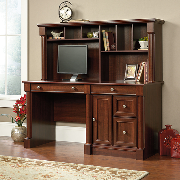 Sauder Palladia Computer Desk And Hutch 420513 Sauder