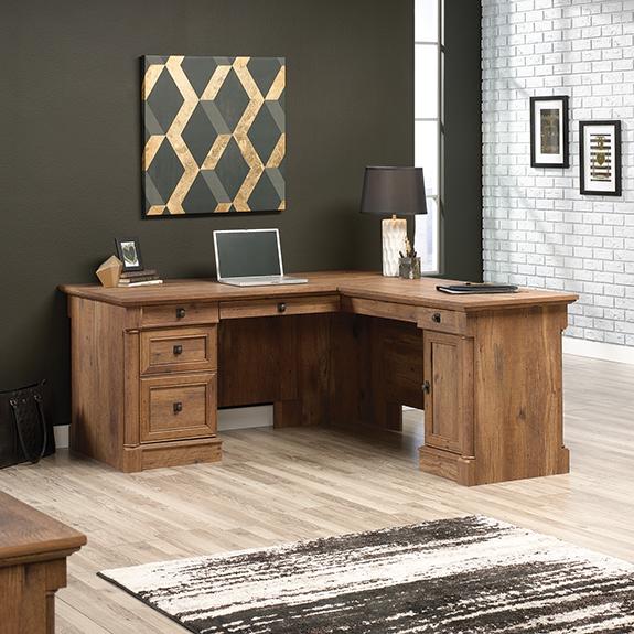 Youu0027re Viewing: Sauder Vine Crest L Desk (421975) $450.98