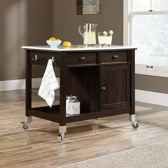 Home Styles The Orleans Kitchen Island With Marble Top: The Furniture Co. (416849) Sauder Mobile Kitchen Island