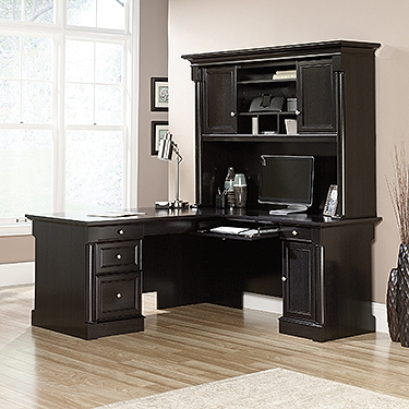 Sauder Palladia L Shaped Desk With Hutch Ps1122 Sauder