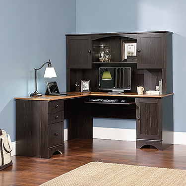 Sauder Harbor View Corner Desk With Hutch (PS1011)