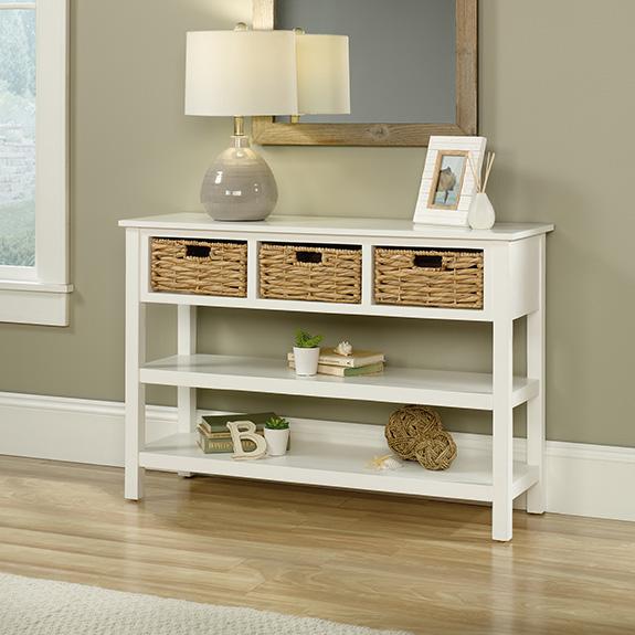 Cottage Road Basket Console 422753 Sauder Furniture Outlet Store