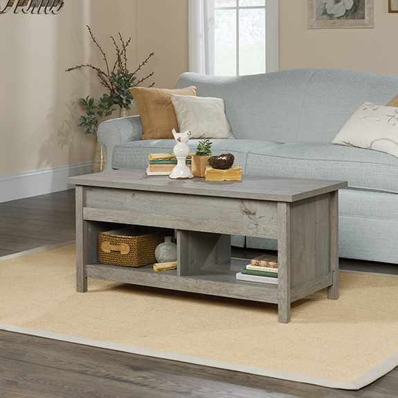 Sauder Cannery Bridge Lift Top Coffee Table ...